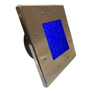 a 0004 Stainless Steel 80 LED Pool light Square